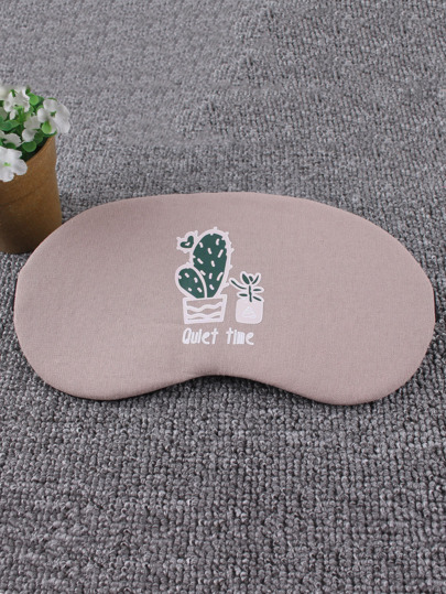 Cactus & Slogan Print Sleeping Eye Mask