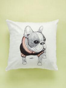 Bulldog Print Cushion Cover
