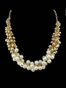 White Simulated-Pearl Necklace