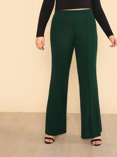Plus Zip Back Flared Pants
