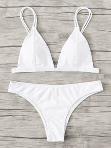 Adjust Strap Triangle Bikini Set