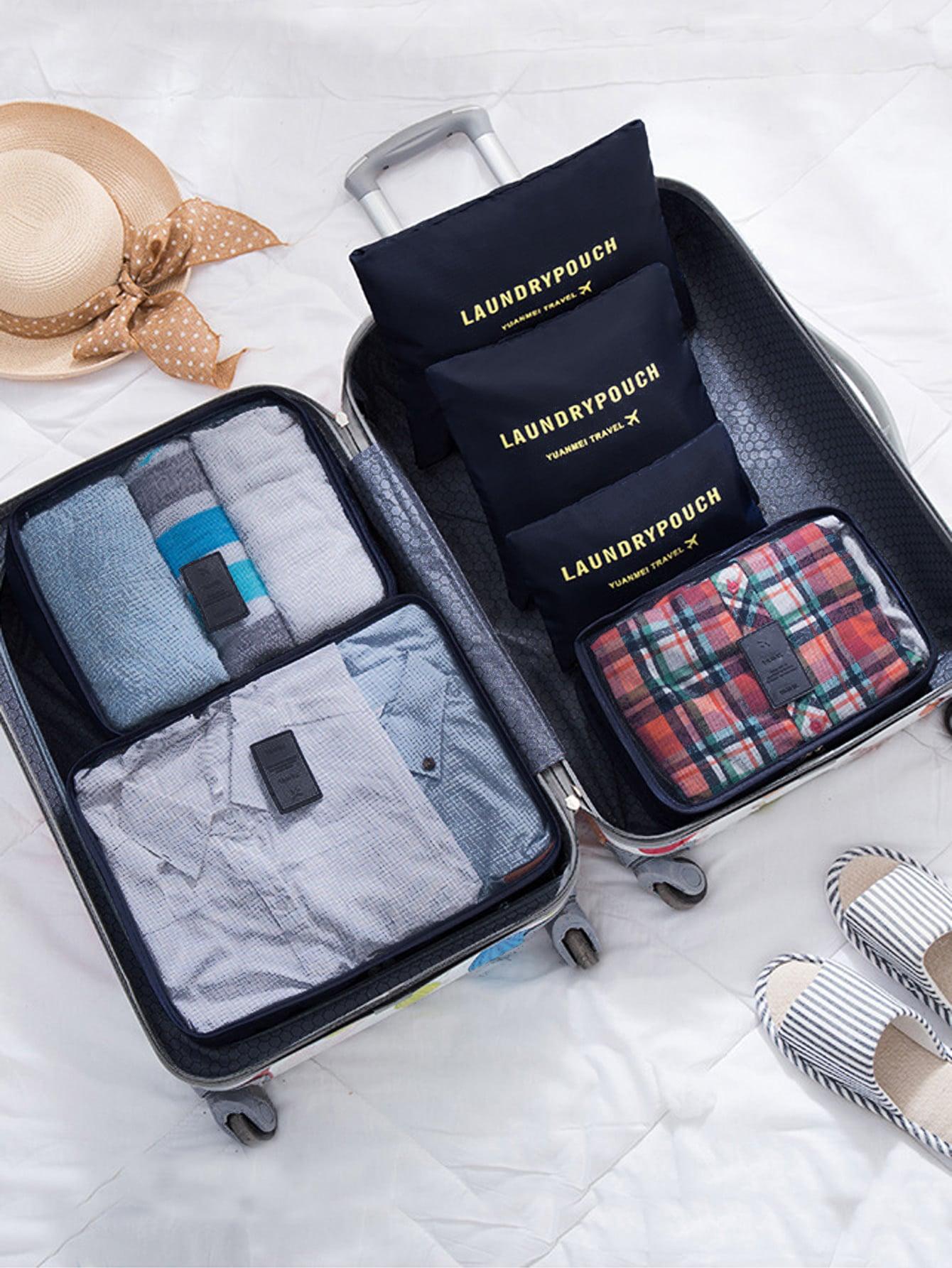 6 Pcs Travel Bags Set Minimalist Storage Bag