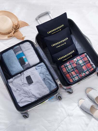 6 Pcs Travel Bags Set Minimalist Storage Bag
