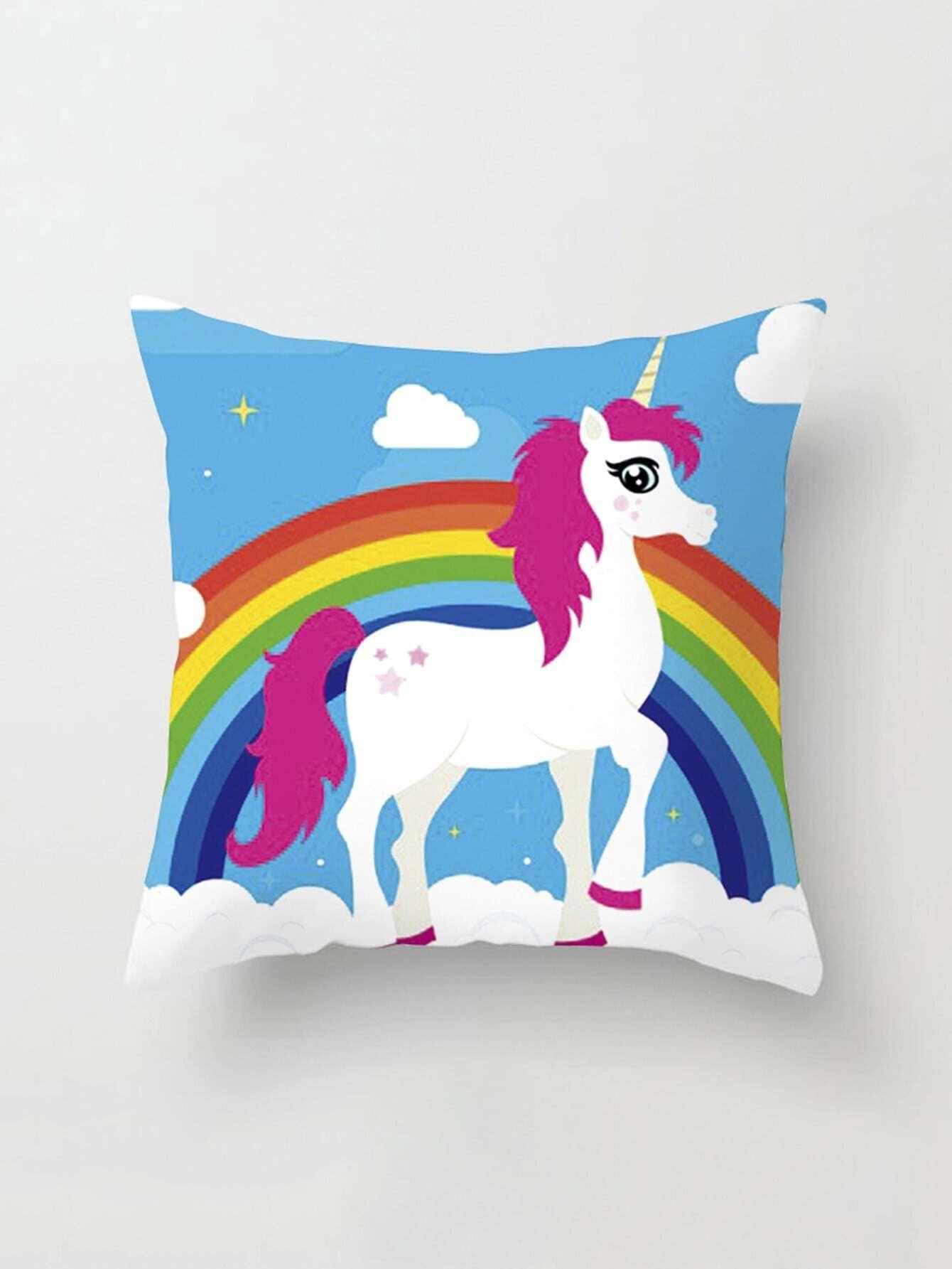 Animal & Rainbow Print Pillow Cover