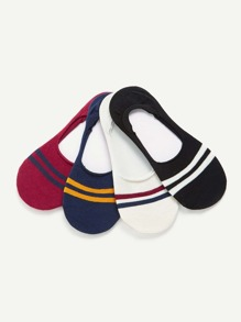 Striped Invisible Socks 4pairs