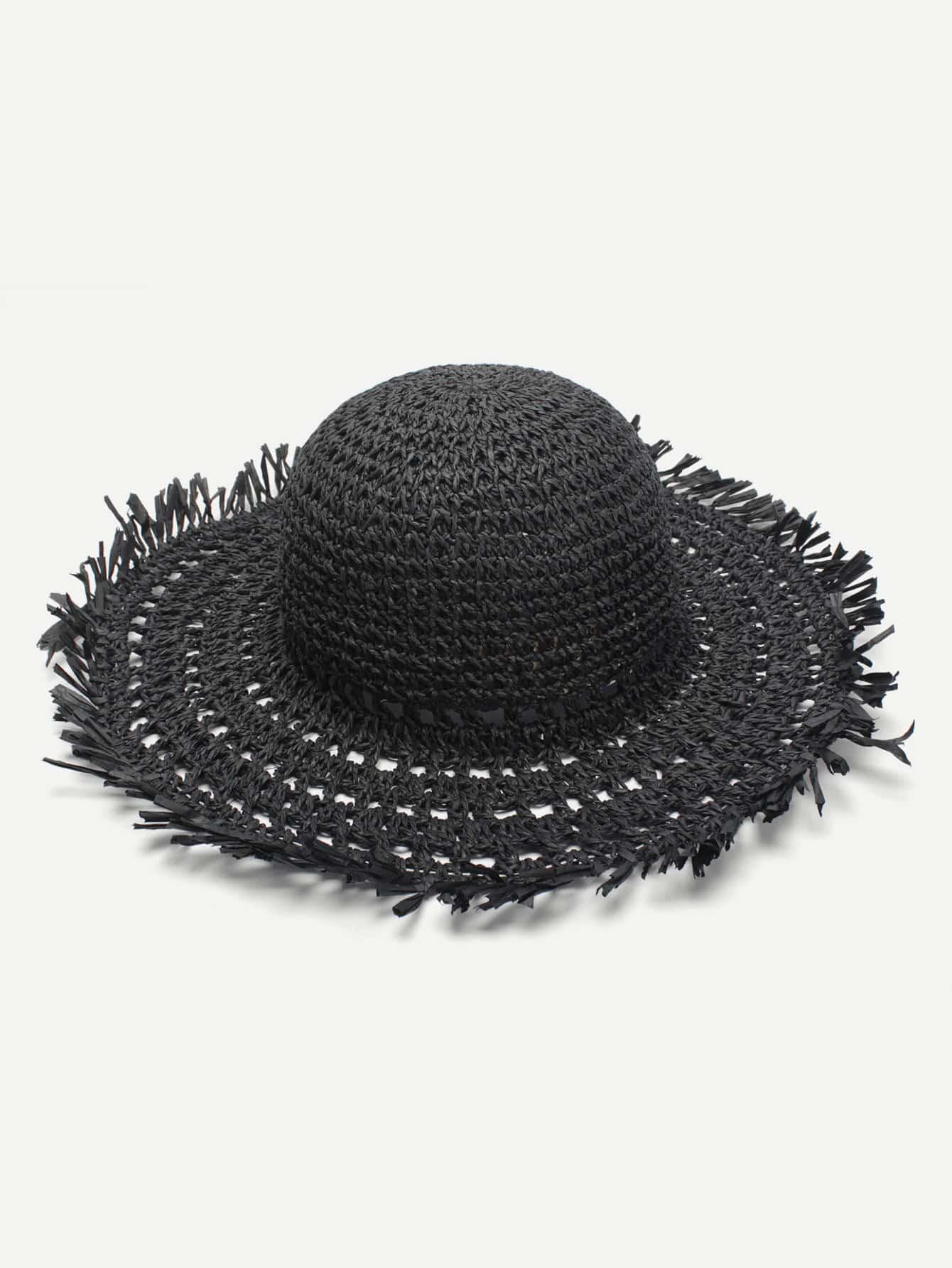 Raw Edge Straw Hat suede raw edge biker jacket