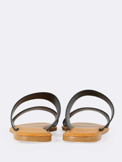 Nubuck Double Band Slide Sandal BLACK
