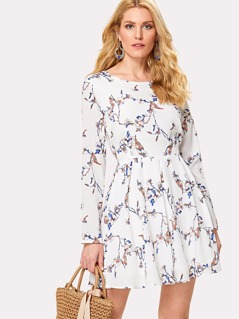 Fit & Flared Floral Dress