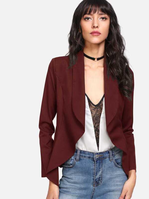 Shawl Collar Open Front Blazer, Camila