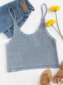Crochet Crop Cami Top