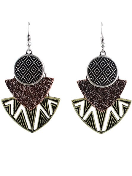 Silver Hollow Geometric Dangle Earrings gloria паста для шугаринга средняя с ментолом паста для шугаринга средняя с ментолом 330 гр