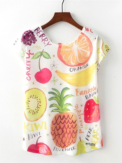 Fruit Print Tshirt