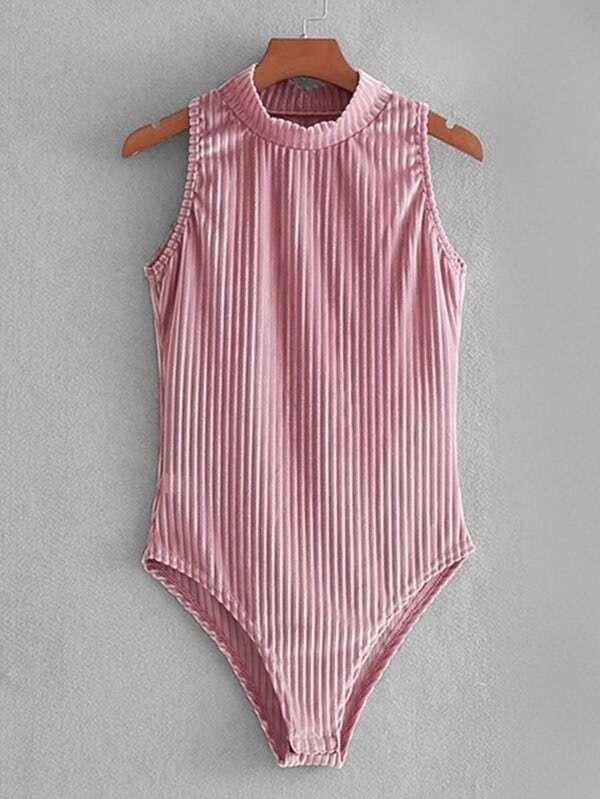 Velvet Skinny Bodysuit velvet skinny jumpsuit