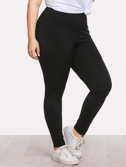 Leggings scarni in vita elastica