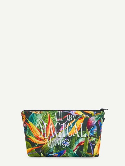 Jungle Print Makeup Bag