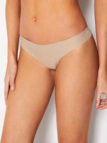 Lace Panel Seamless Brief