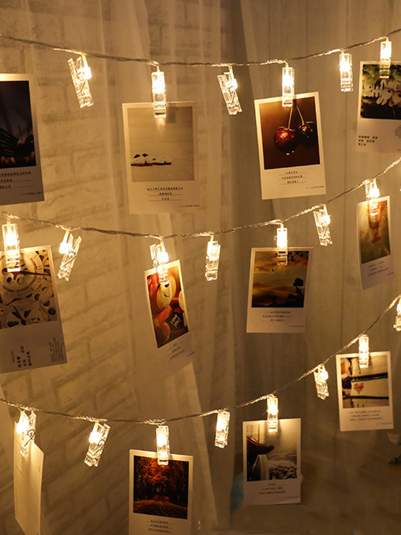 Plun In Peg String Lights With 20pcs Bulb
