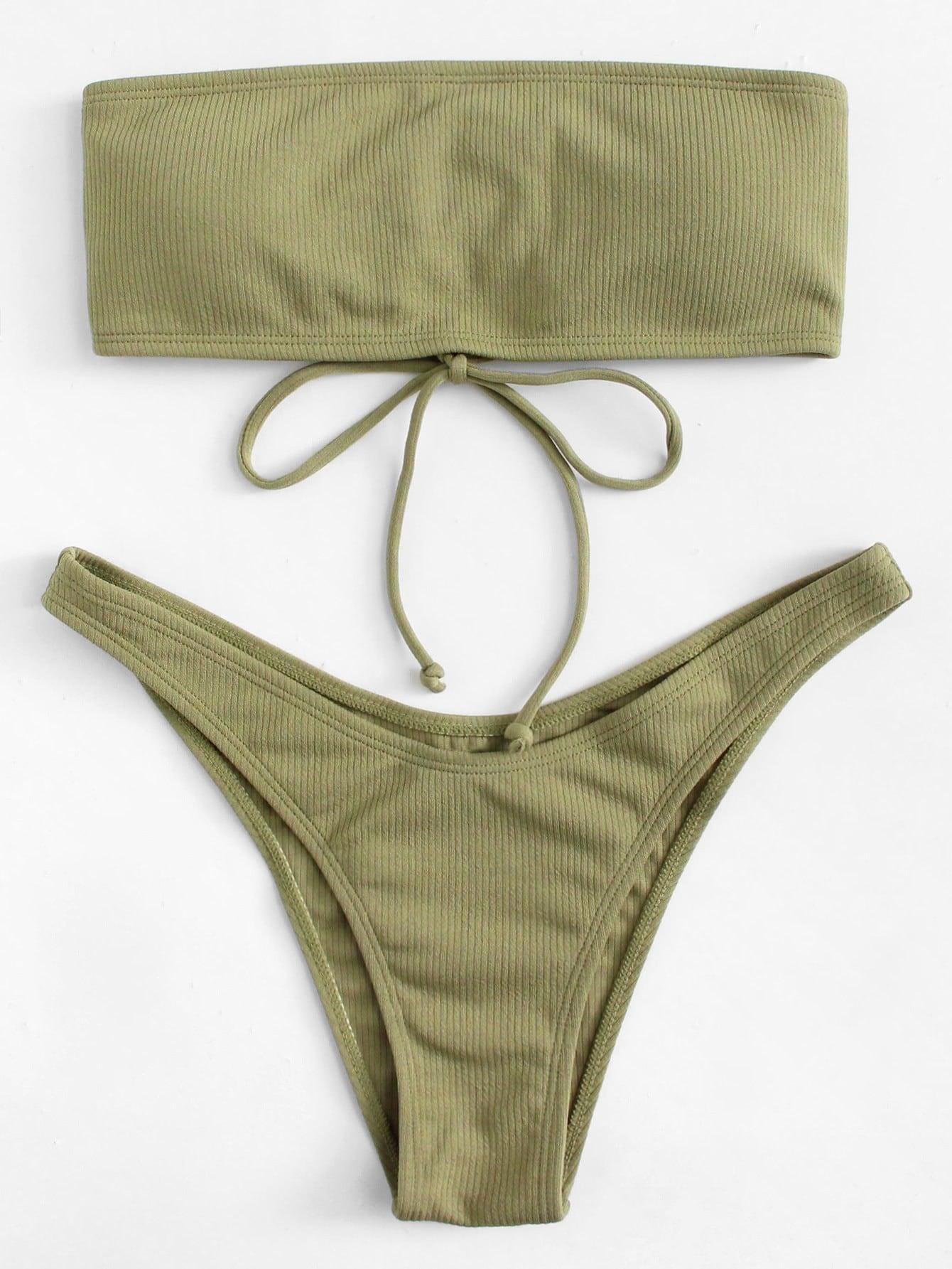 Lace Up High Leg Bikini Set high leg lace harness teddy