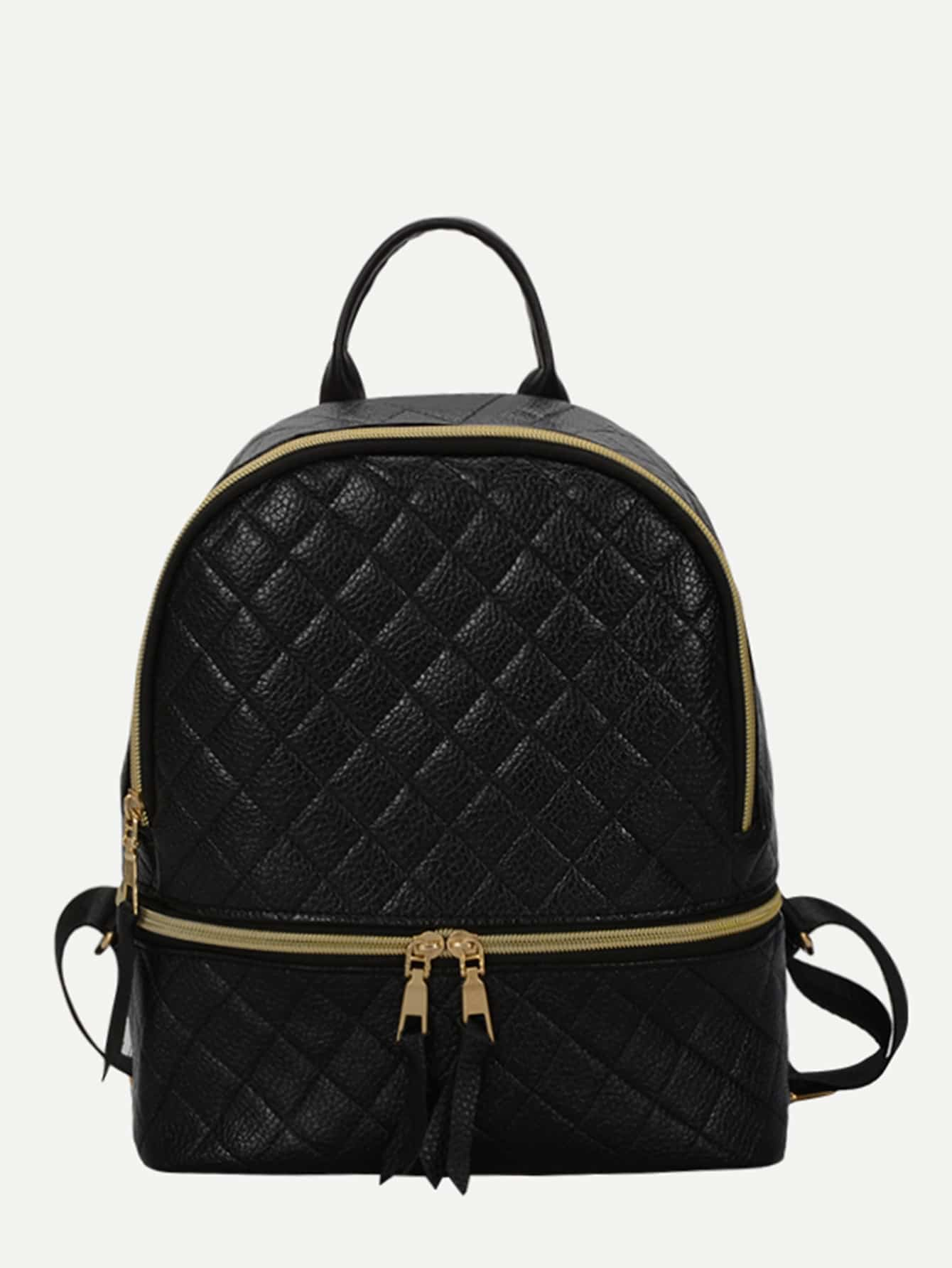 Double Zipper Front Backpack