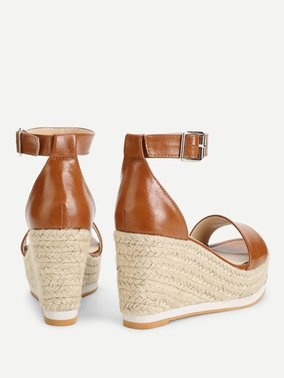 SheIn / Ankle Strap Espadrille Wedges