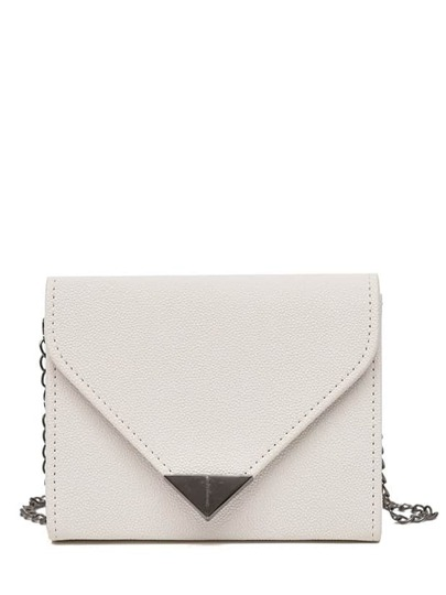 PU Flap Chain Crossbody Bag