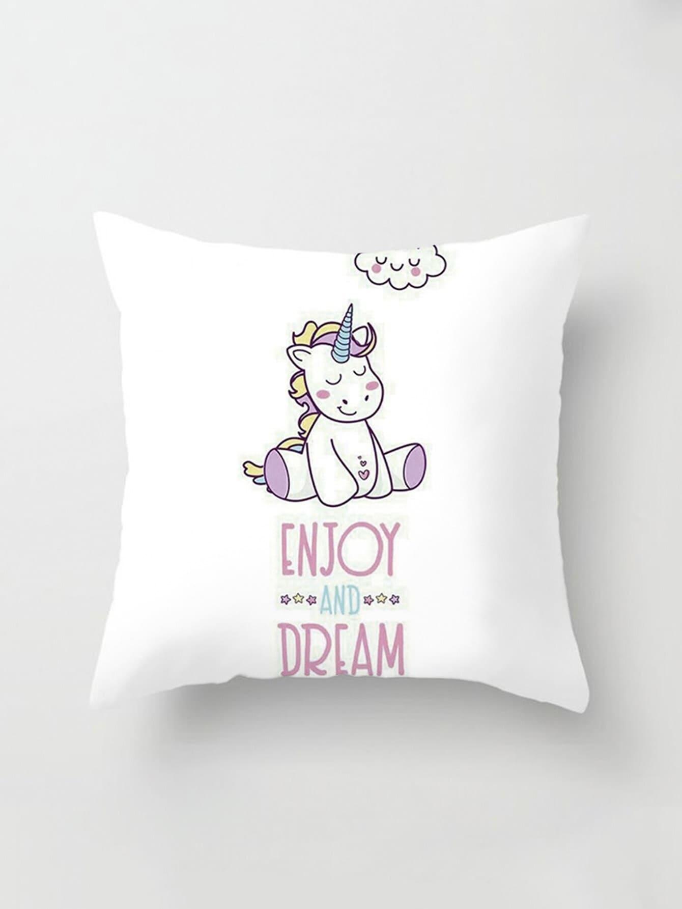 Купить Обложка для подушки для Cartoon Print, null, SheIn