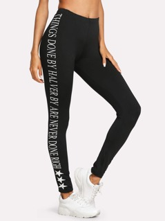 Printed Side Leggings