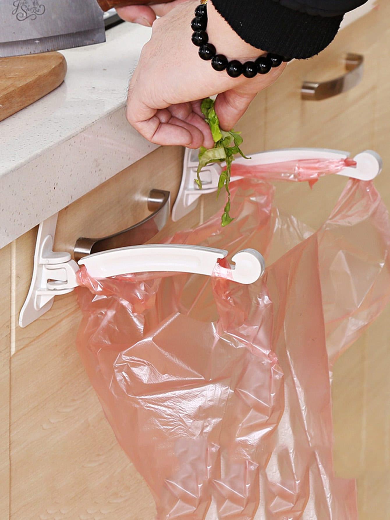 2 Pcs ABS Trash Bag Holder