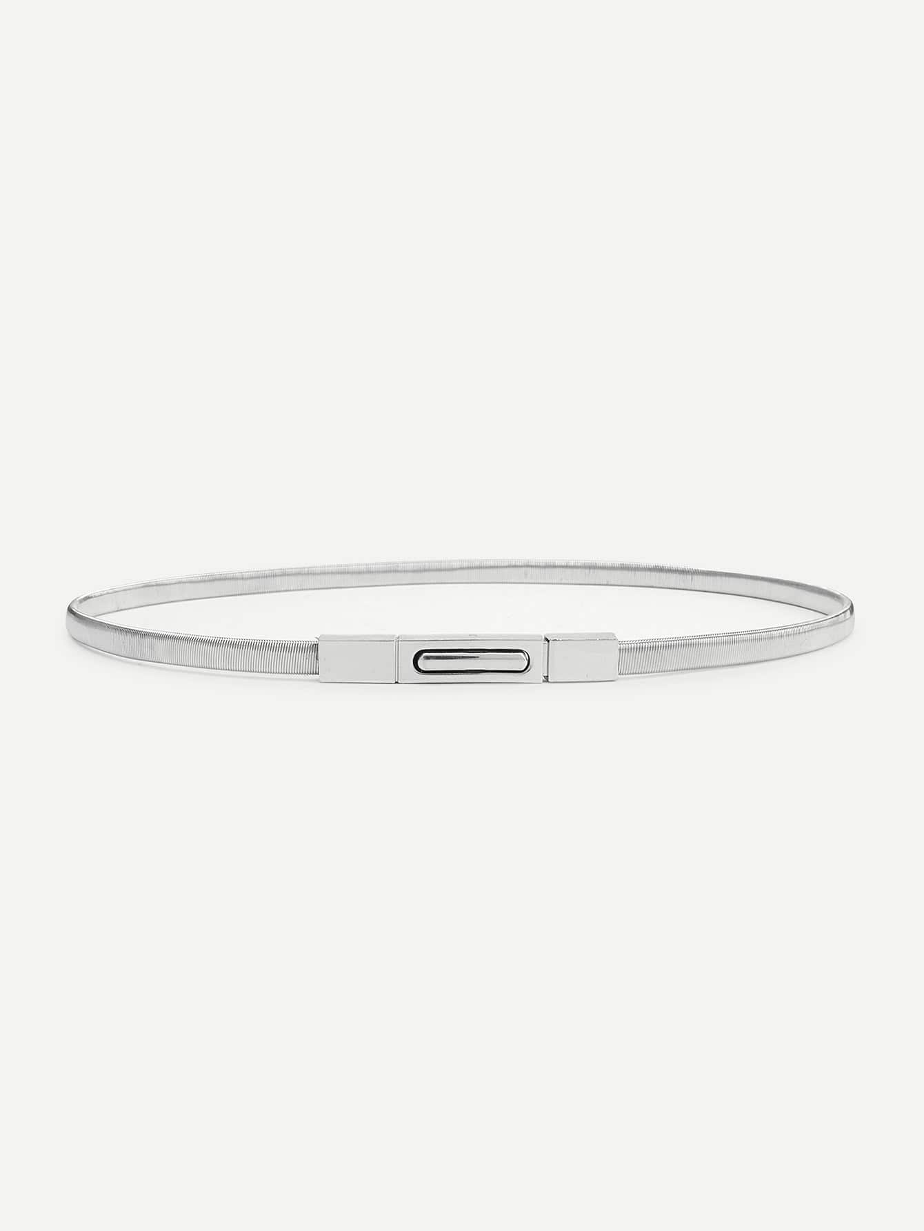 Metallic Skinny Belt metallic woven belt 2pcs