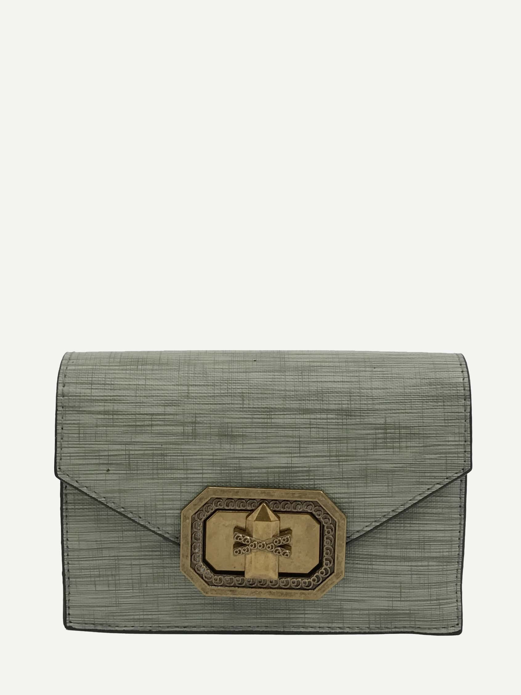 PU Crossbody Bag With Adjustable Strap pu leather print strap stitching crossbody bag