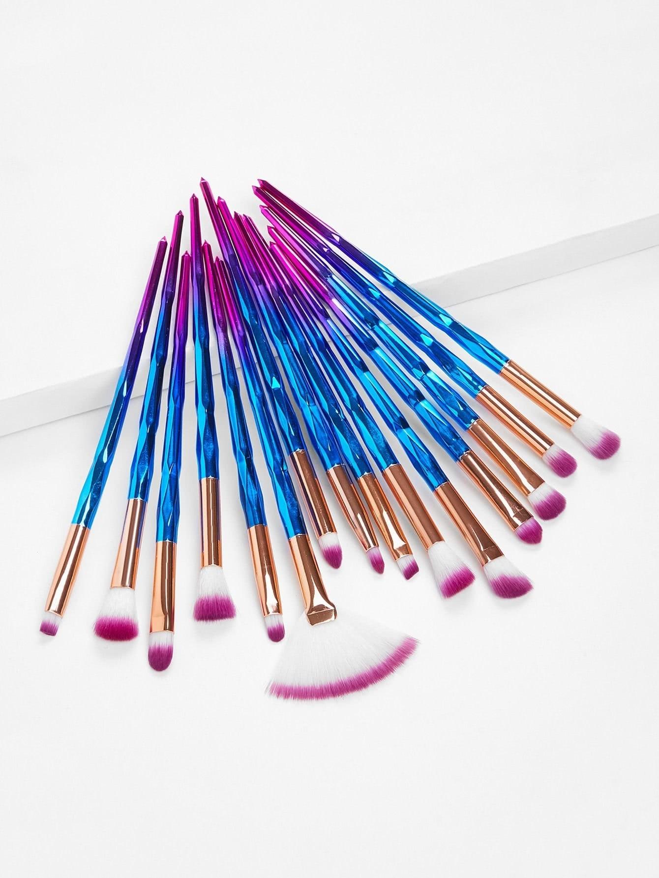 Ombre Handle Makeup Brush 15pcs