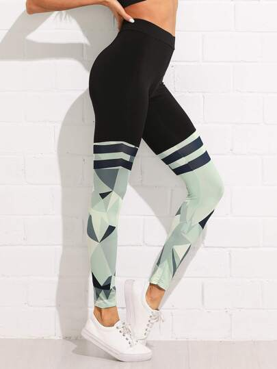 Abstract Geo Print Leggings
