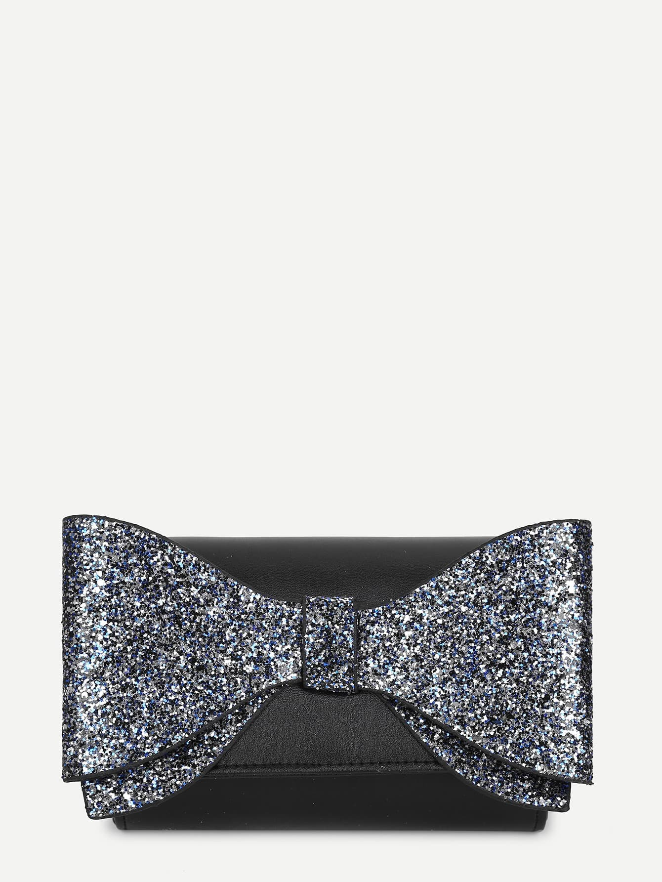 Glitter Bow Decor Crossbody Bag star detail glitter crossbody bag