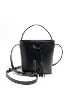 Tassel Decor Grab Bag With Adjustable Strap