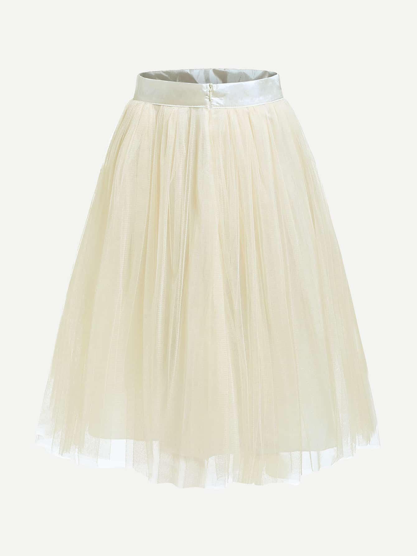 Mesh Layered Skirt layered organza skirt