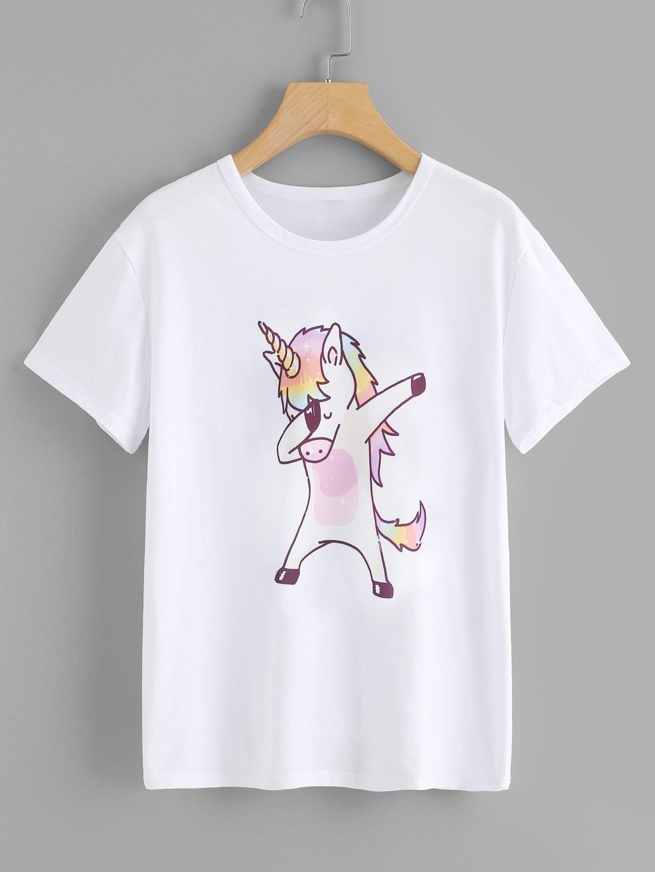 Cartoon Print Tshirt