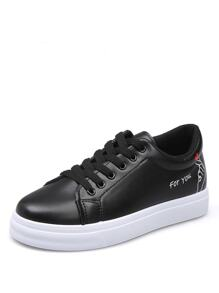 Cartoon Lace Up Sneakers