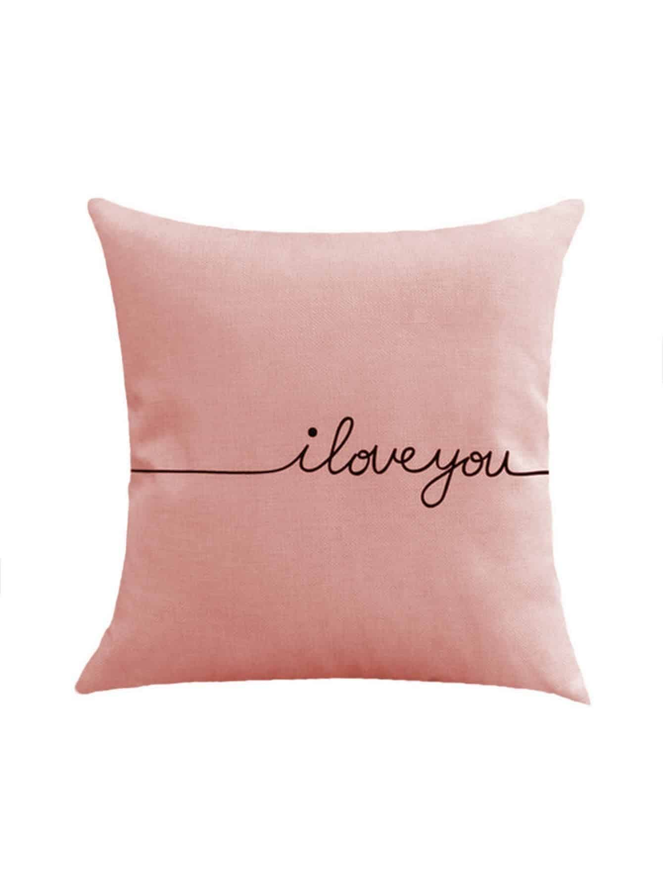Contrast Letter Print Cushion Cover цена