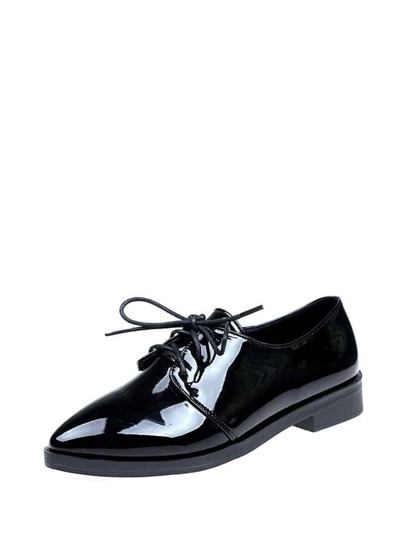 Charol Lace Up Oxfords