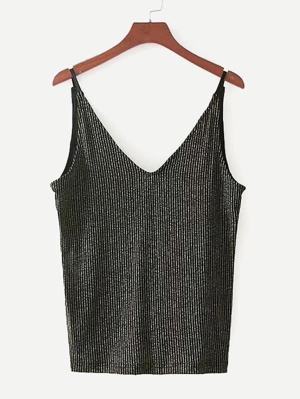 Glitter Striped Cami Top
