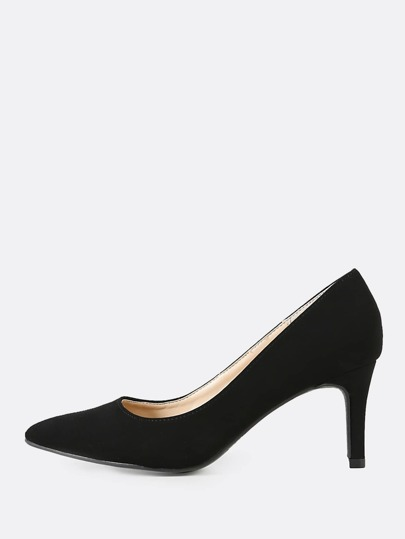 Nubuck Pointy Toe Pump BLACK