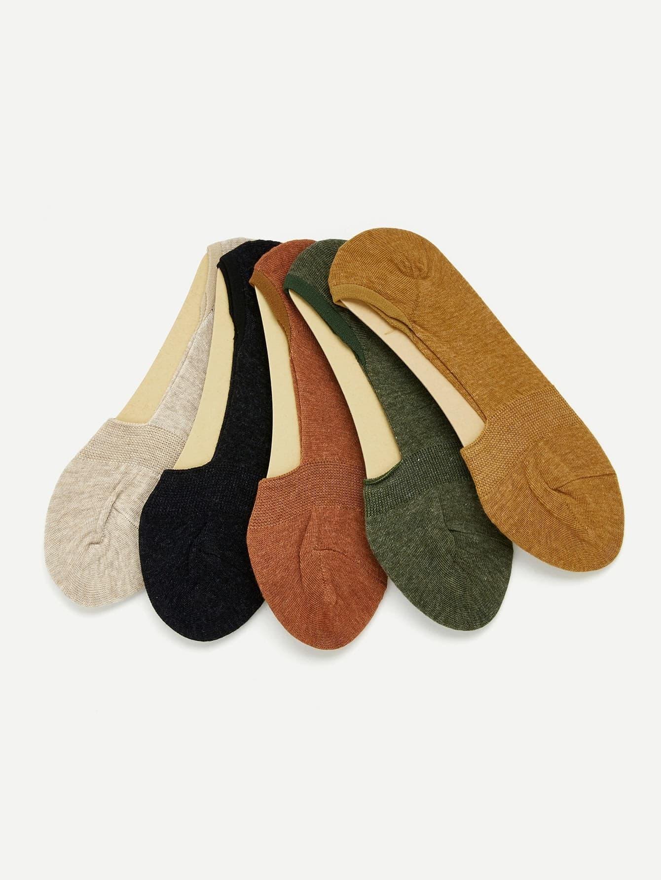 Plain Invisible Socks 5pairs женские чулки 1 5pairs