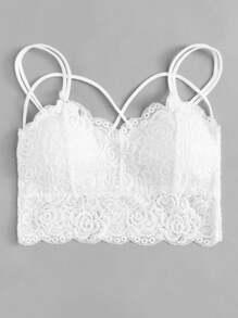 Harness Detail Lace Bralette SHEIN