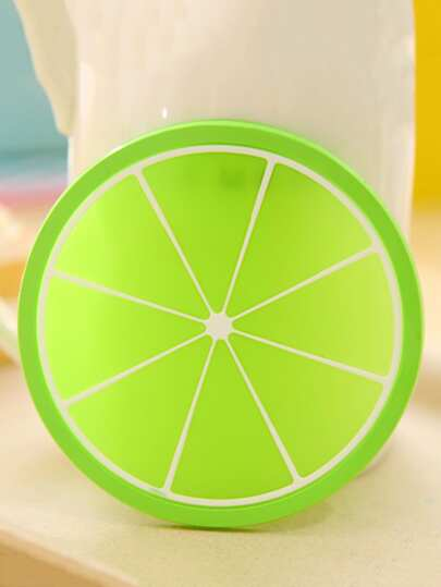 1Pc Fruit Pattern Round Shaped Cup Mat