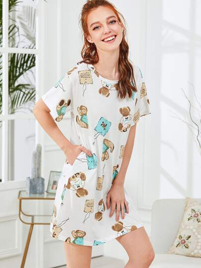Bear Print Nightdress