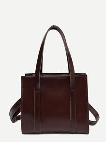 Top Stitch Detail Crossbody Bag