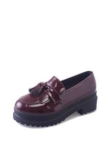 Tassel Decor Platform Loafers