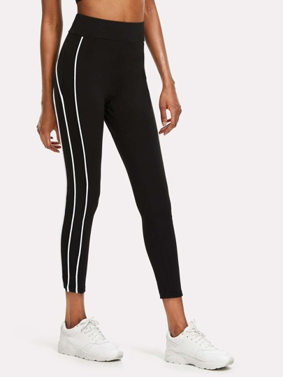 Seam Detail Side Skinny Leggings