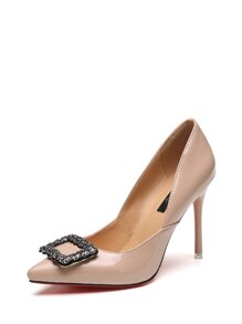 Rhinestone Embellished Stiletto Heels