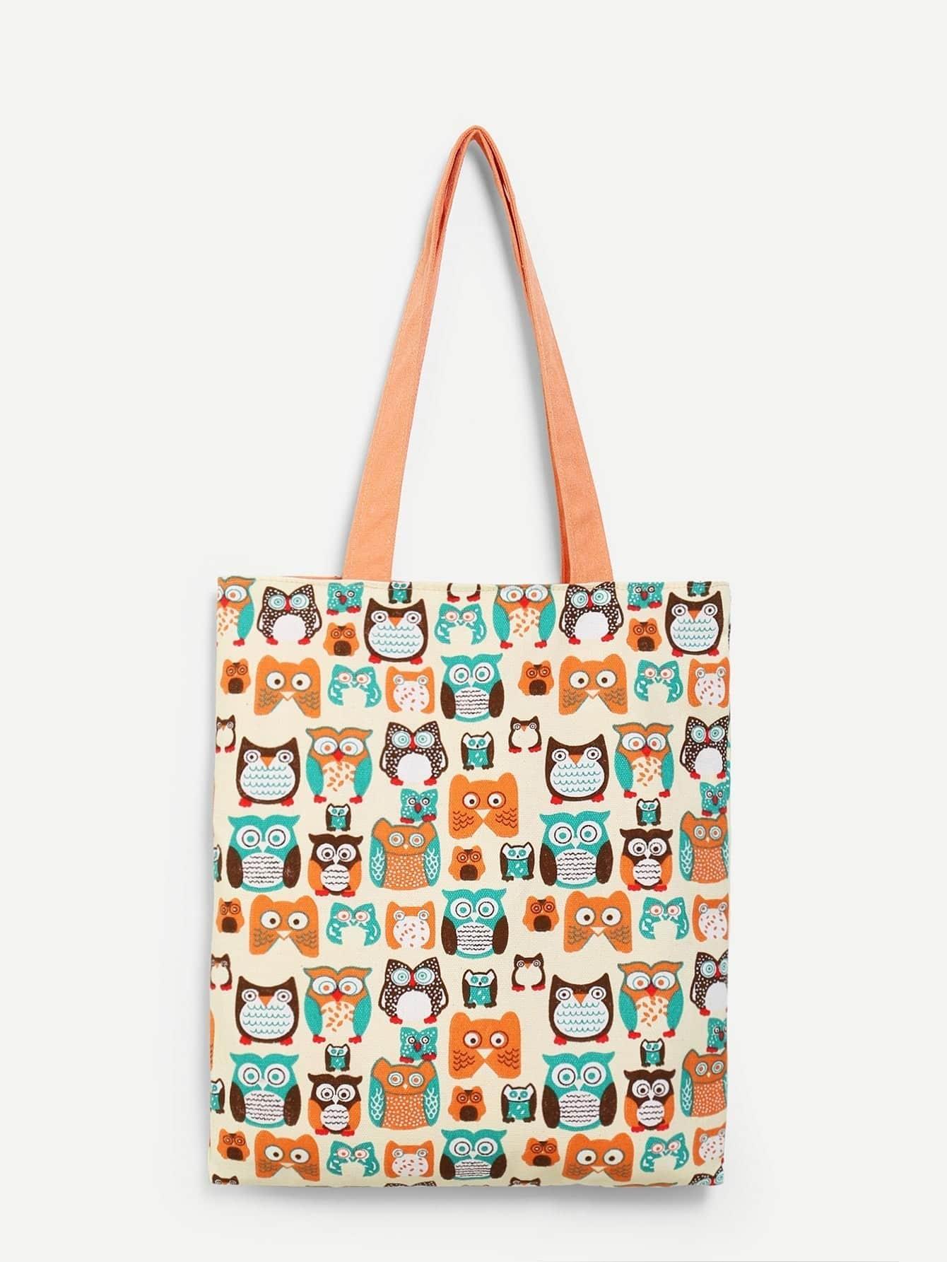 Cat Print Canvas Tote Bag heel print tote bag